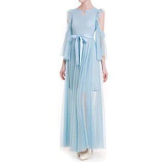 Womens Fairy Dress (Women Notch Neck Ruffled Fairy)