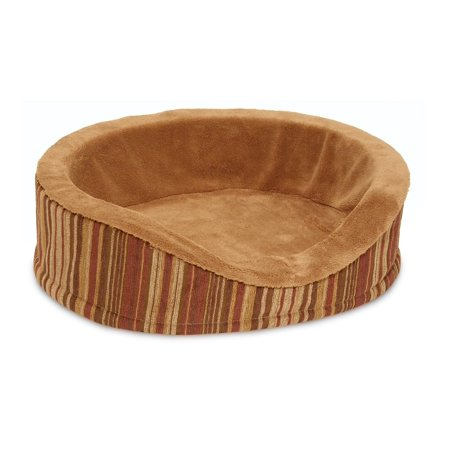 Antimicrobial Deluxe Oval Lounger - Brown, Microban product protction on cover & foam ., by Petmate