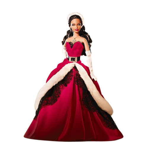 2007 Holiday Barbie Doll, African American by