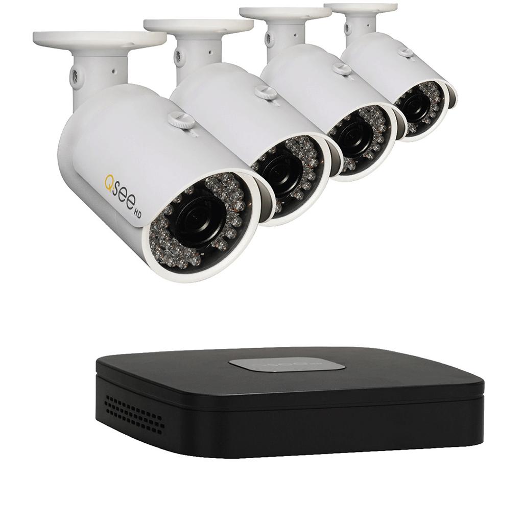 Q-See 4 Channel Network HD DVR Surveillance Kit, 1TB Hard Drive & 4 HD Cameras