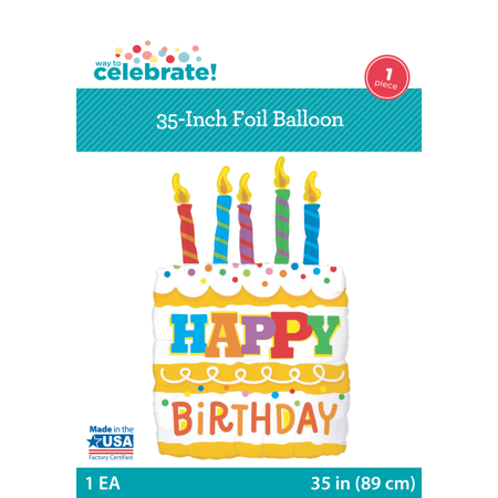 Way To Celebrate 35 Birthday Cake Foil Balloon