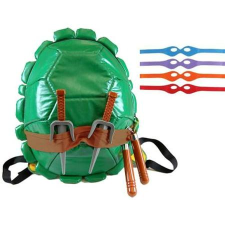 Teenage Mutant Ninja Turtles Shell Backpack W/Masks & Accessories - Ninja Turtles Weapons