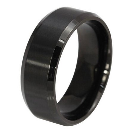 8mm Stainless Steel Rings Plain Dome High Polished Silver Black Gold Rose Wedding Band in Comfort Fit for Men & Women Size 5-14
