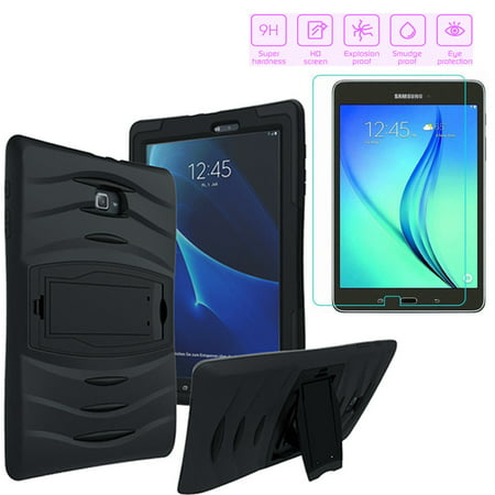 buy online 07225 3c44f Galaxy Tab E 9.6 Case by KIQ Armor Shockproof Heavy Duty Stand Tempered  Glass Protector Stylus Pen Bundle Kit For Samsung Galaxy Tab E 9.6-inch  T560 ...