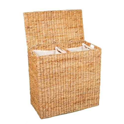 Birdrock Home  Honey Over-sized Divided Hamper with Liners 4630