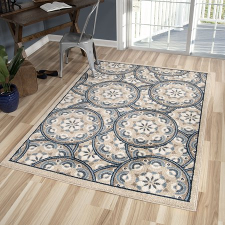 Better Homes and Gardens Blue Tokens Area Rug and -