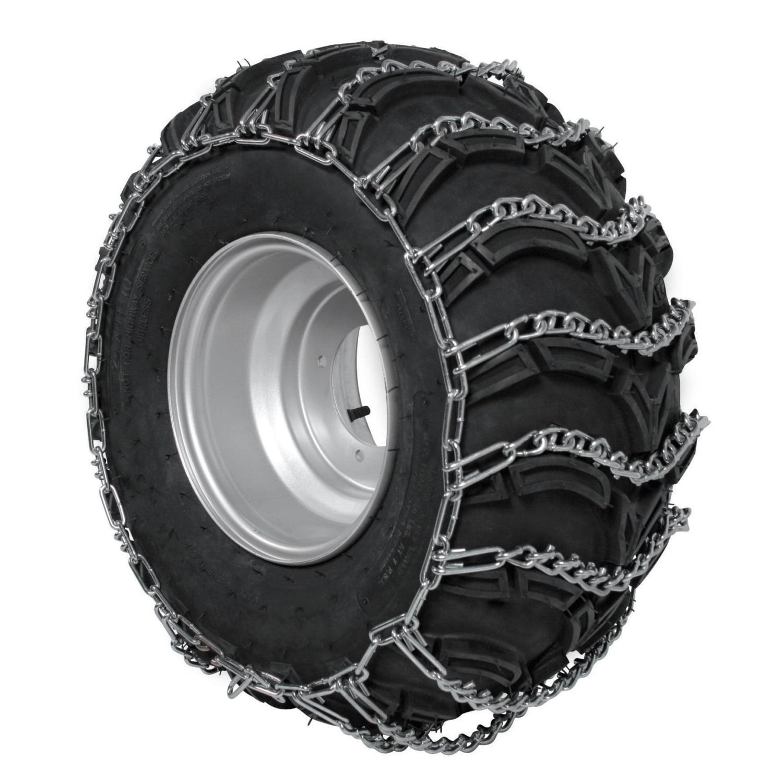 26 10 14 ATV UTV 2 Link V Bar Tire Chains Set of 2 TireChain.com 26 X 10 X 14