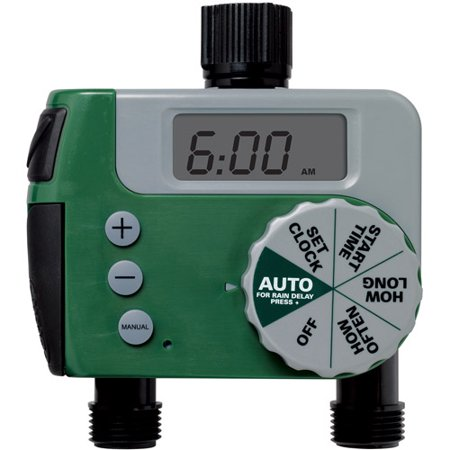 Orbit 62062N 2-Outlet Digital Watering Timer (1 Manual/1 Digital)