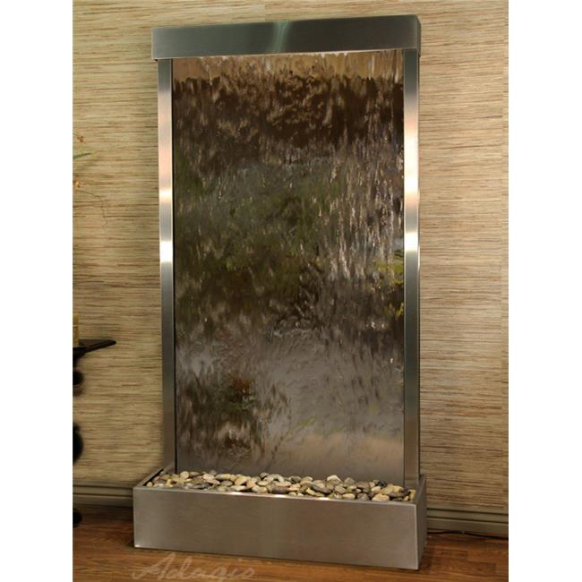 Adagio TRF2041 Tranquil River Flush Mount Free Standing Fountain - Stainless Steel-Bronze-Mirror