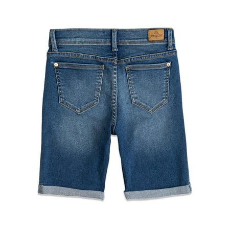 Jordache Girls Exposed Button Bermuda Shorts, Sizes 4-18 & Plus