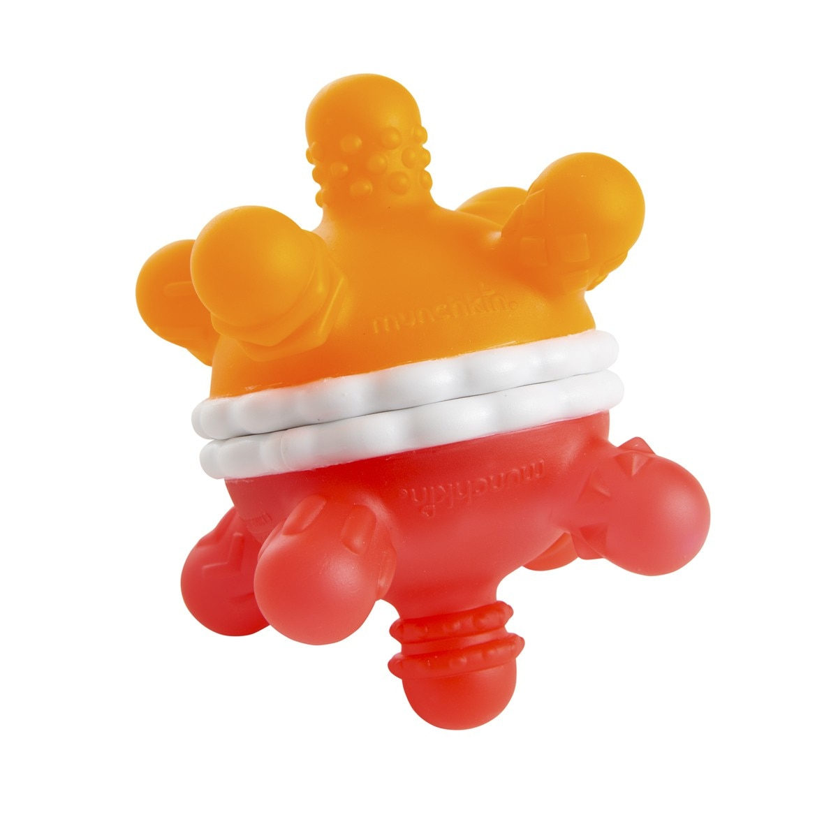 Munchkin Twisty Ball Teether Toy, 1 Pack - Red/Orange