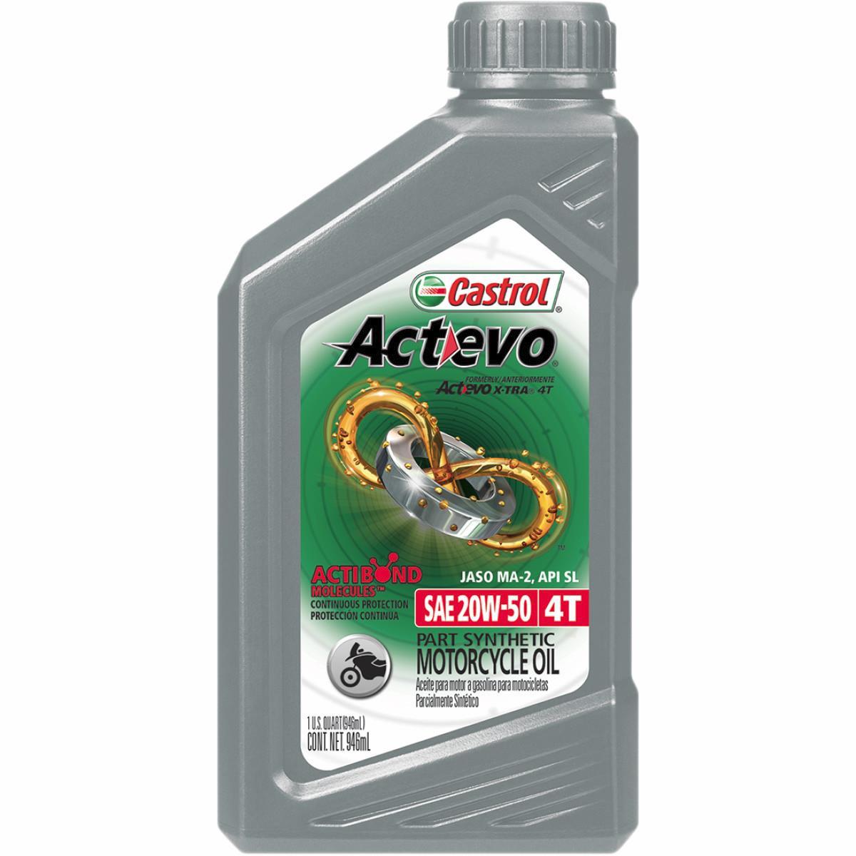 Castrol 06139 / 159A96 Actevo X-Tra 4T Synthetic Blend - 20W50 - 1qt.
