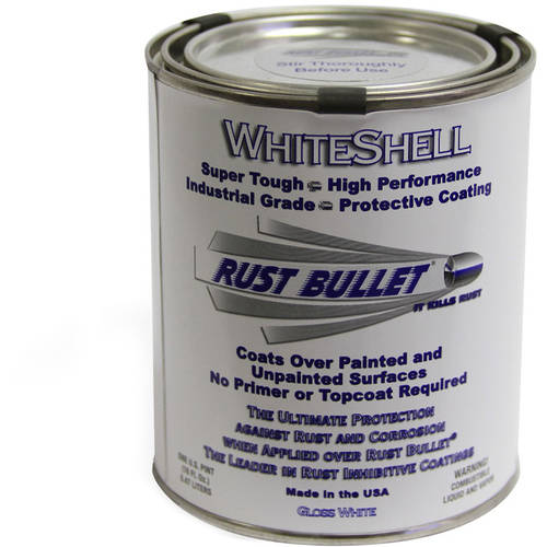 Rust Bullet WhiteShell, Rust Preventative and Protective Coating, Pint