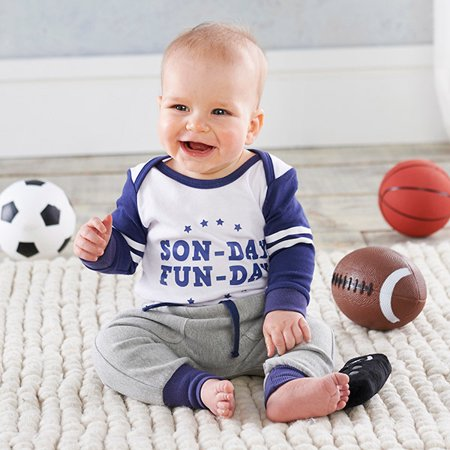 Long Seeve Bodysuit & Jogger Pants, 2pc Outfit Set (Baby Boys)