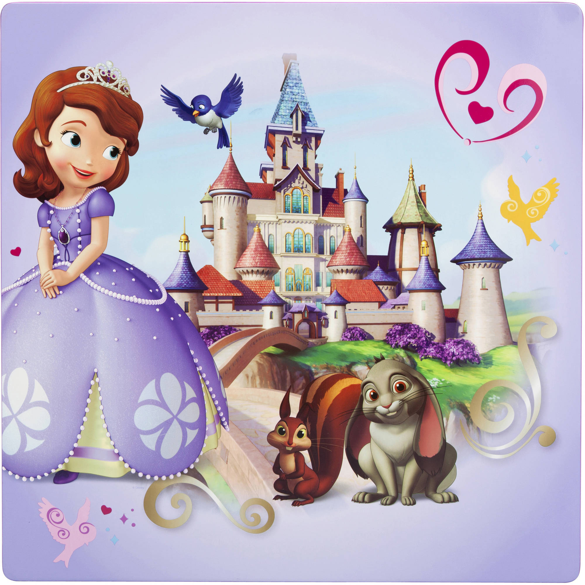 Disney Jr Sofia The First Table And Chairs Set Lavender Walmartcom