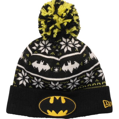 Batman Logo Sweater Chill Pom Beanie - Batman Sweater