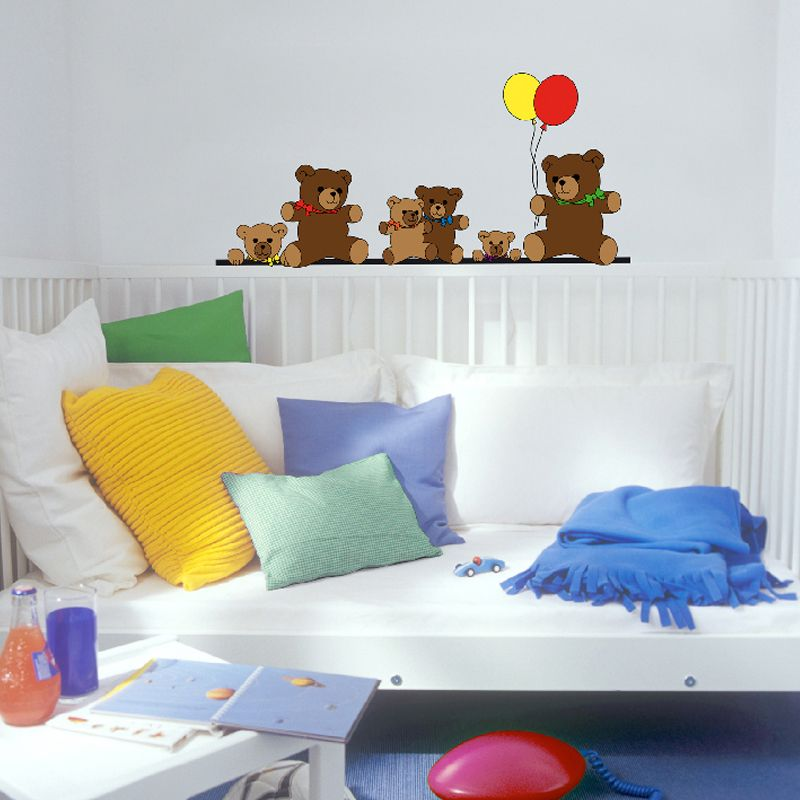 Brewster Home Fashions Wizard & Genius Teddy Bears Wall Decal 26L 12W