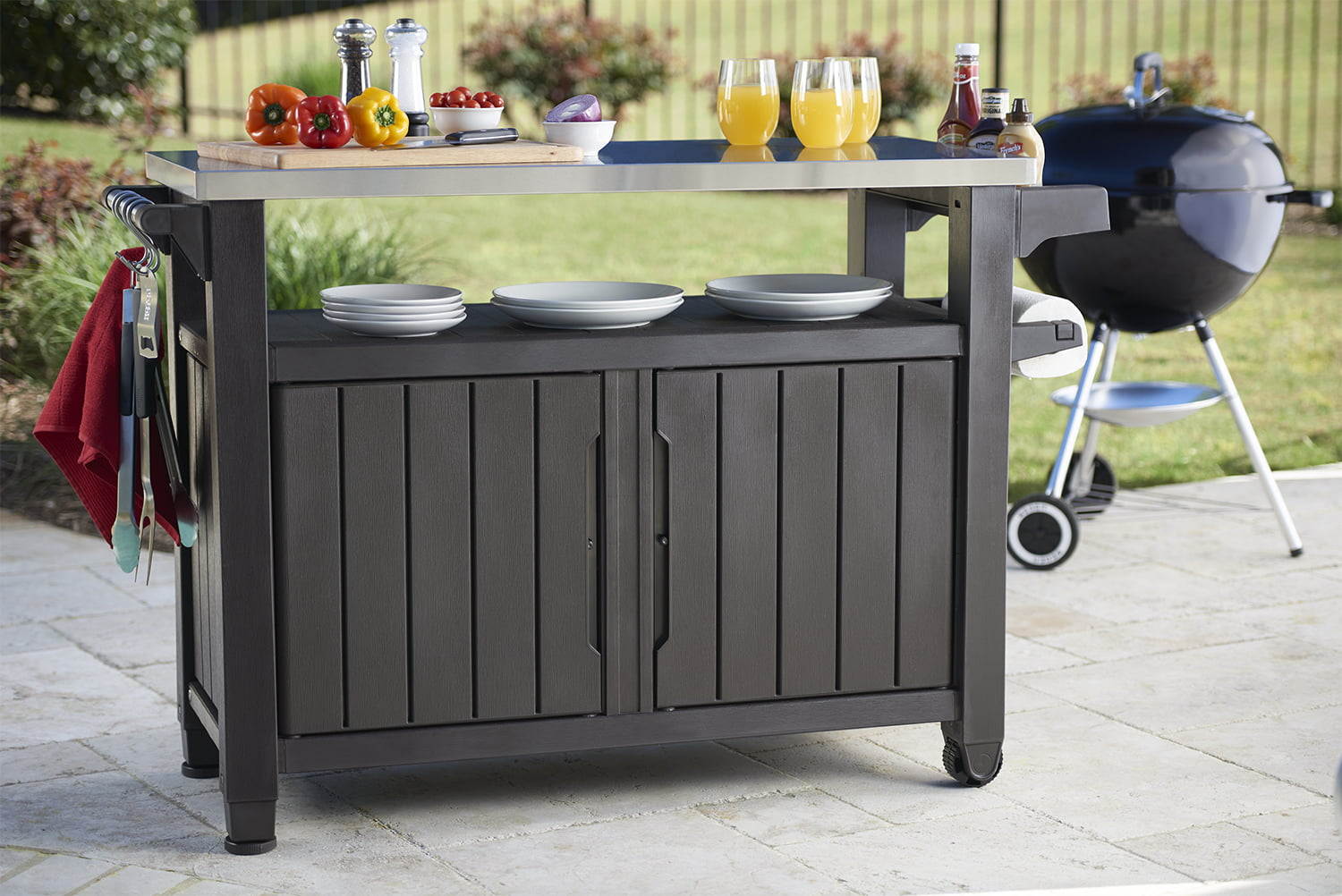 Keter Unity XL Resin Serving Station, All-Weather Plastic ...