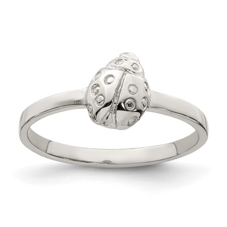 925 Sterling Silver Childs Ladybug Band Ring Size 3.00 Baby Flower Gardening Animal Gifts For Women For Her