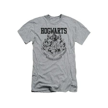 Harry Potter Hogwarts Athletic Short Sleeve Adult Athletic Heather](Hogwarts Tie)
