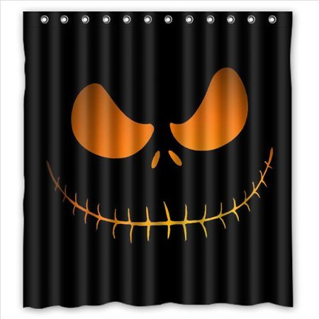 Ganma Movie Nightmare Before Christmas Pumkin Face Shower Curtain Polyester Fabric Bathroom Shower Curtain 66x72 inches](Nightmare Before Christmas Baby Shower)