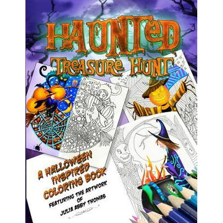 Halloween Themed Treasure Hunt (Haunted Treasure Hunt : A Halloween Inspired Coloring)