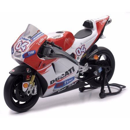 NEW 1:12 MOTORCYCLES COLLECTION - RED DUCATI MOTO GP 2015 DUCATI DESMOSEDICI - ANDREA DOVISIOSO #04 Model Car By TOYS, 1:12 NEW RAY.., By New Ray (Motorcycle Collector)