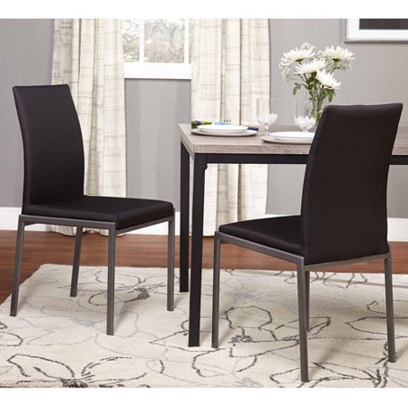 2 Black Dining Chairs - Harrison Dining Chairs, Black, Set of 2