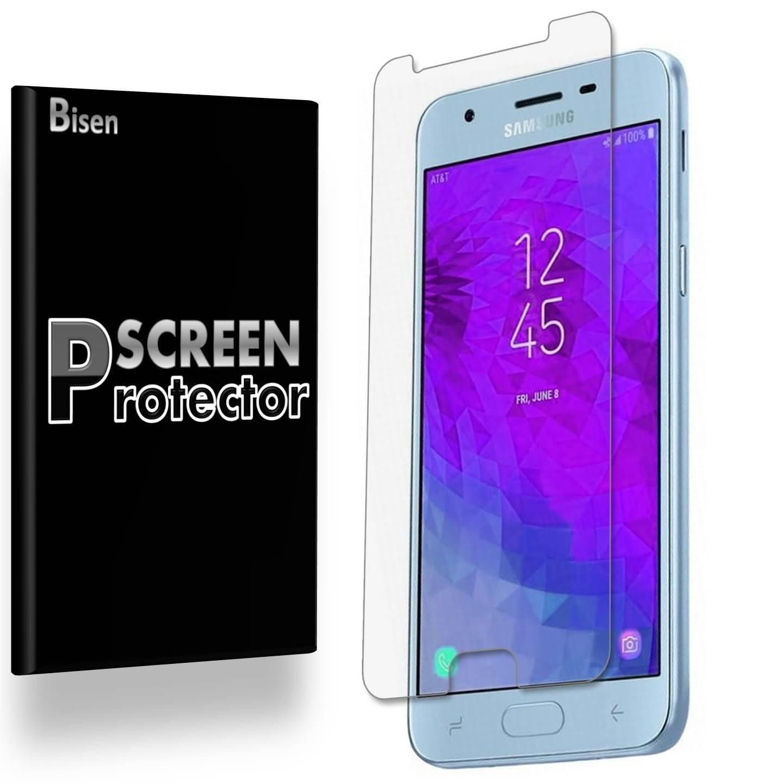 Samsung Galaxy J3 (2018) [4-Pack BISEN] Ultra Clear Screen Protector, Anti-Scratch, Anti-Shock
