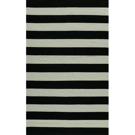 Momeni Laguna Wool Hand Woven Black Area Rug 8' X 10' (Woven Wool Area Rug)