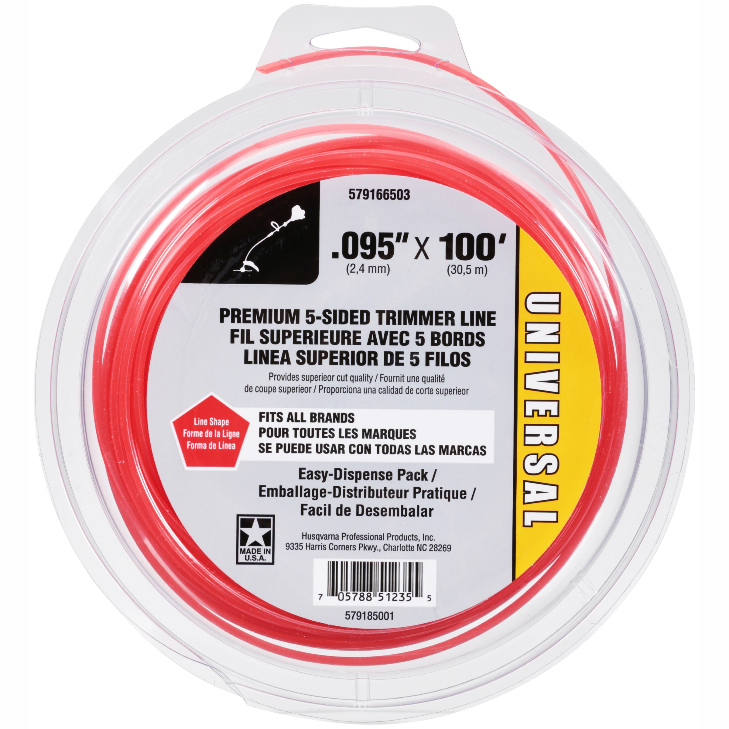 Universal Premium 5-sided Replacement Trimmer Line, .095 ...