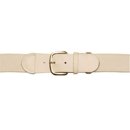 Adult Baseball & Softball Uniform Belt, White (Softball V-neck Uniform)