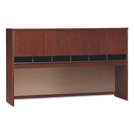Bush Series C Collection 4 Door 72W Hutch, Box 1 of 2, Hansen Cherry