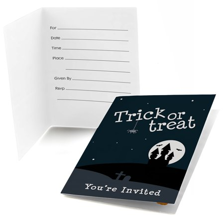 Trick or Treat - Fill In Halloween Party Invitations (8 - Ideas For Halloween Party Treats