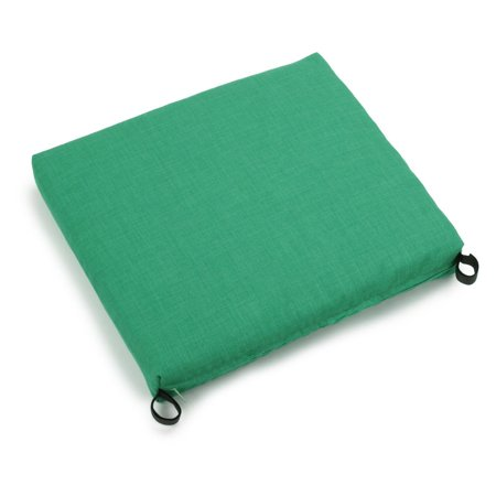 Blazing Needles Outdoor All Weather Patio Chair Cushion 20 x 19 in