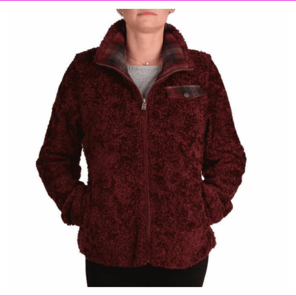 Pendleton Pendleton Ladies Fuzzy Zip Jacket Xl Dark Red Walmart Com Walmart Com [ 1000 x 1000 Pixel ]