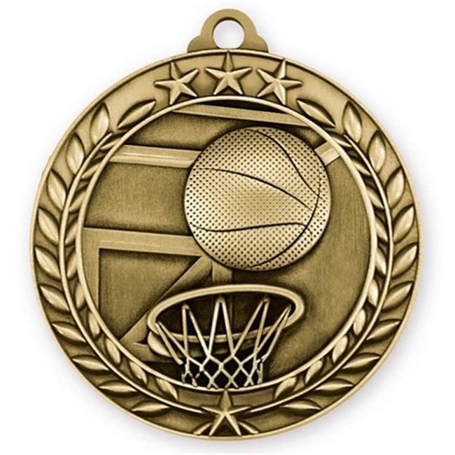 Simba WAM903G 1.75 in.Wreath Medallion Basketball, Gold