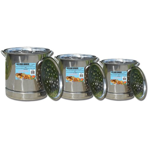 King Kooker 3-Pot Set, Stainless Steel