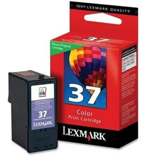 Lexmark No.37 Tri-Color 150 Page Yield Return Program Ink Catridge for Z2420, X3650, X4630, X4650 Printers 18C2140