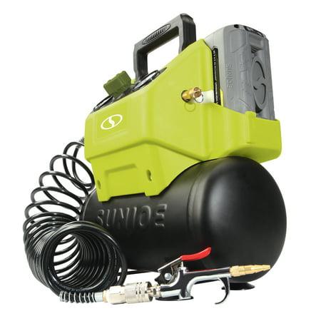 Sun Joe 40V Cordless 1.6-Gallon Hotdog Air Compressor with Inflator