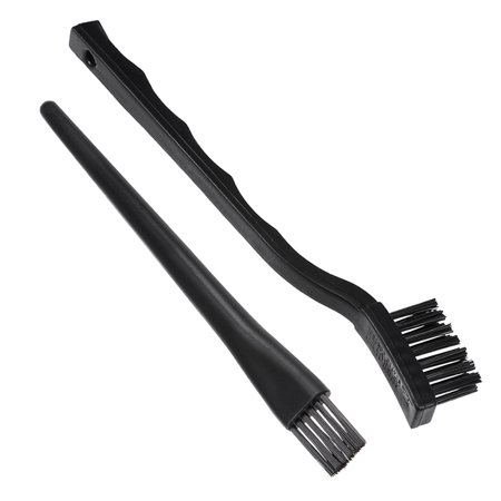 2 in 1 Nonslip Plastic Handle Conductive Ground ESD Anti Static Brush Kit Black