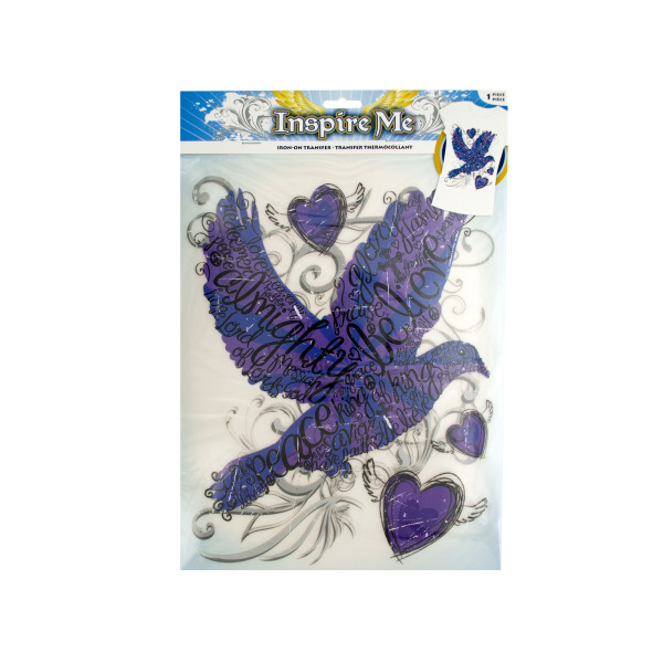 Iron-On Religious Dove Transfer (Available in a pack of 30)