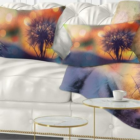 c01f6f1b43a3 DESIGN ART Designart  Dandelion Flower on Orange Background  Floral Throw  Pillow - Walmart.com
