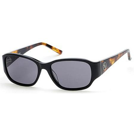 Sunglasses Guess GU 7436 01A shiny black / (Guess Wayfarer Sunglasses)