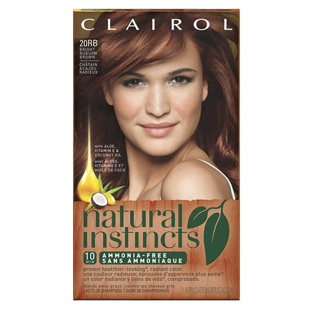 Natural Instincts 20rb Bright Auburn Brown 1 Kit, Natural Instincts Non-Permanent Hair Color is Ammonia Free formula, gives you healthier-looking*, radiant.., By (Best Non Permanent Hair Color For Gray)