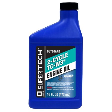 Supertech outboard 2 cycle tc w3 engine oil 16 fl oz for How to get motor oil out of jeans