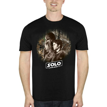 Solo: A Star Wars Story Men's Han And Chewie Short Sleeve Graphic T-Shirt, up to Size 2XL (Advance Wars Shirt)