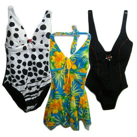 New 813099  Womens Bathing Suit 1Pc Asst (24-Pack) Women Cheap Wholesale Discount Bulk Apparel Women Boys ()