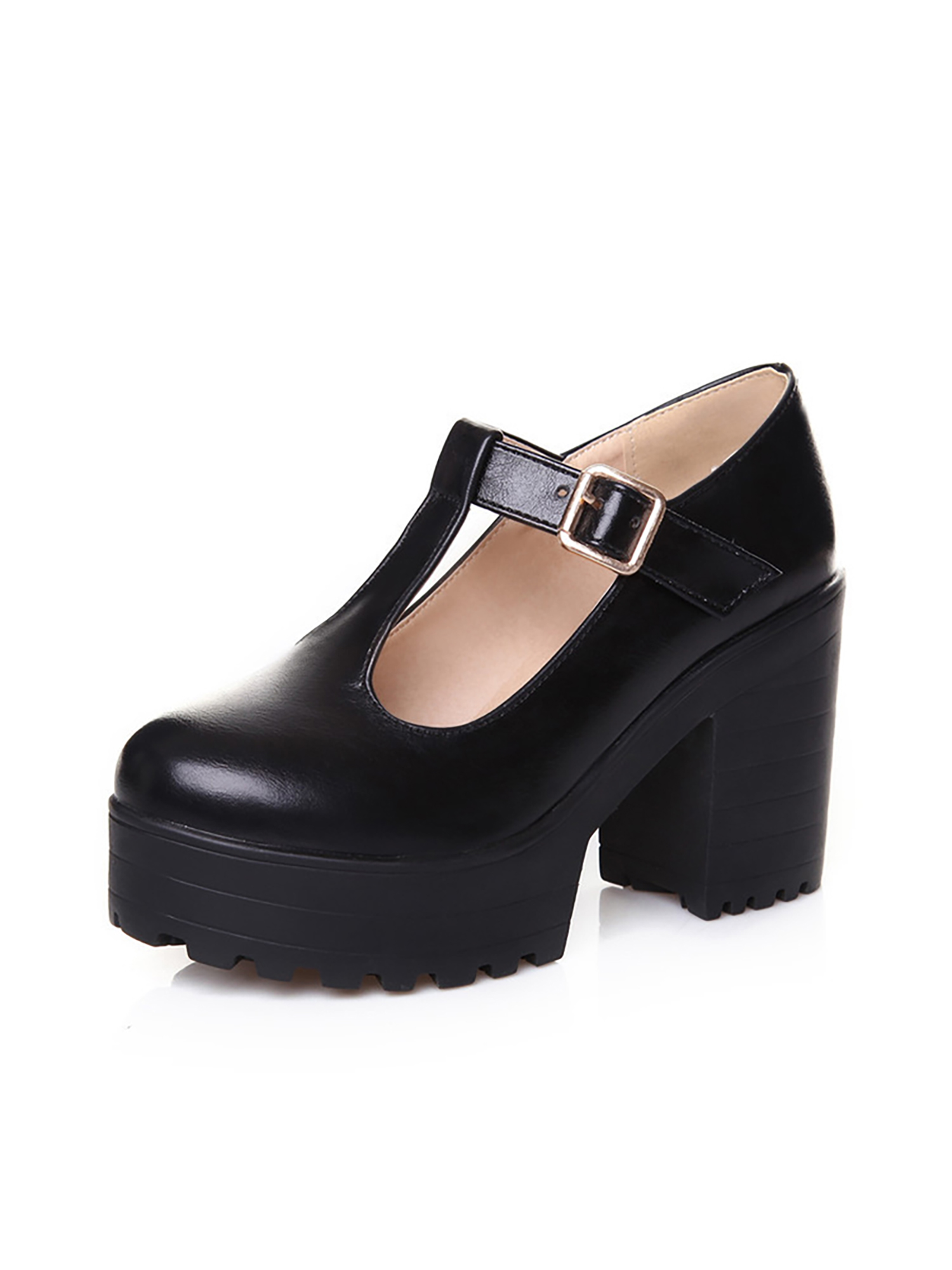 Details about  /Womens Mary Jane Round Toe Ankle Strap High Heel Platform Party Shoes big Size T