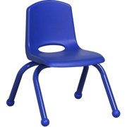ECR4Kids 6pk School Stack Chair with Powder Coated Legs, Ball Glide, Multiple Colors/Sizes